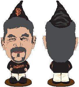 San Francisco Giants Bruce Bochy Gnome 7-31-2016