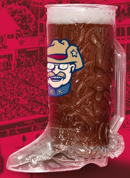 beer boot mug - frisco roughriders - 7-28-2016 (2)