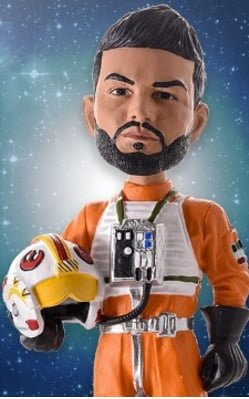 Kansas City Royals Eric Hosmer X-Wing Fighter Bobblehead 9-18-2016