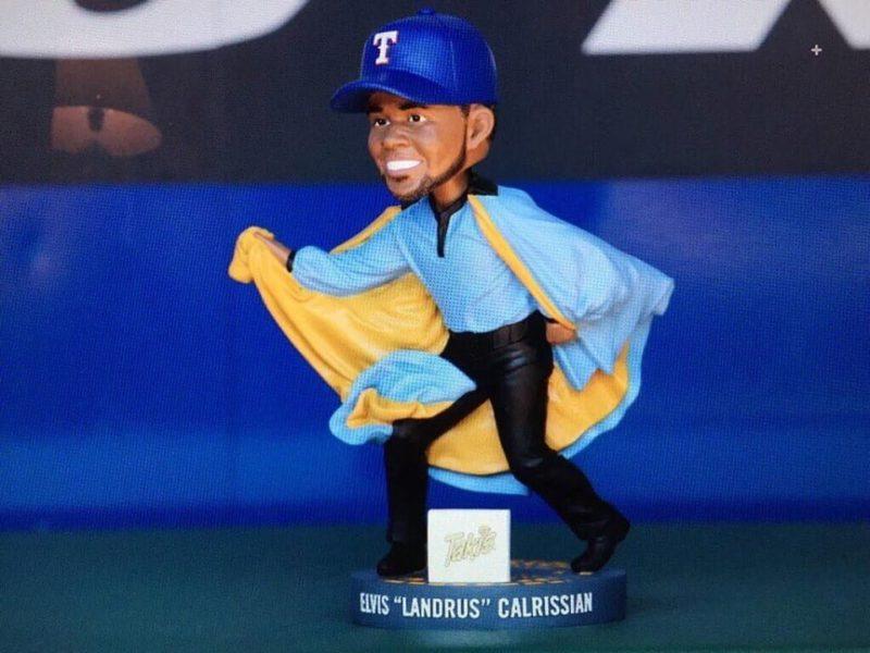 Texas Rangers Taki's Elvis Landrus Calrissian Star Wars Bobblehead 8-27-2016