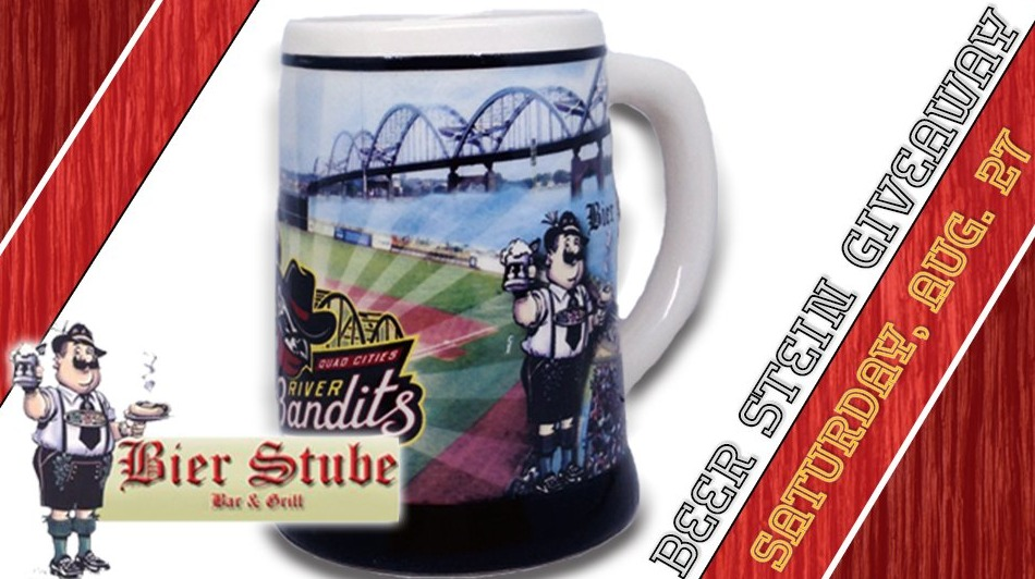 beer stein - quad cities river bandits - 8-27-2016