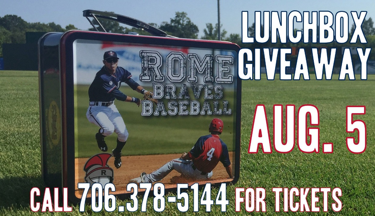lunch box - rome braves - 8-5-2016