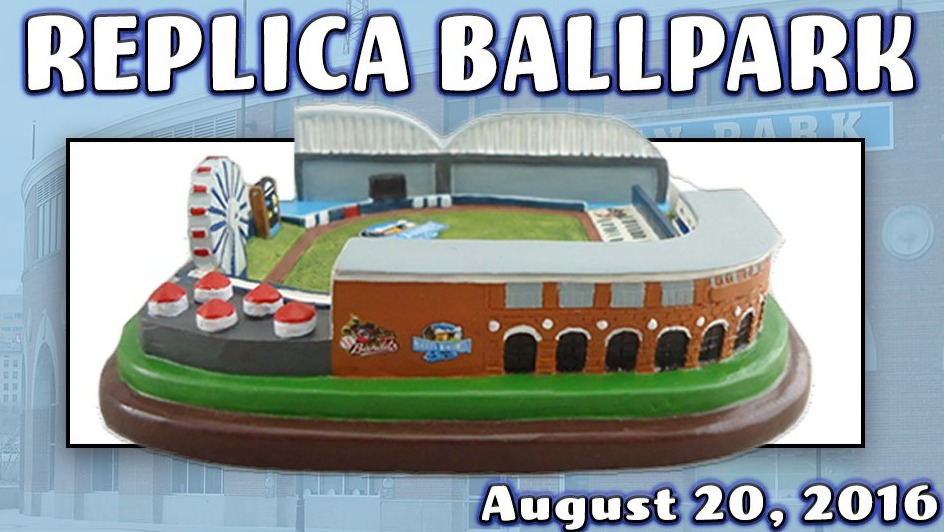 replica mini stadium - quad cities river bandits - 8-20-2016