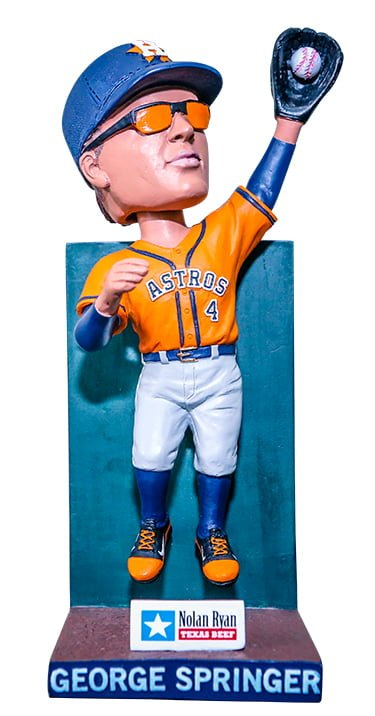 Houston Astros George Springer Outfield Wall Catch Bobblehead 9-10-2016