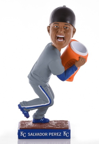 salvador perez bobblehead - kansas city royals - 9-3-2016