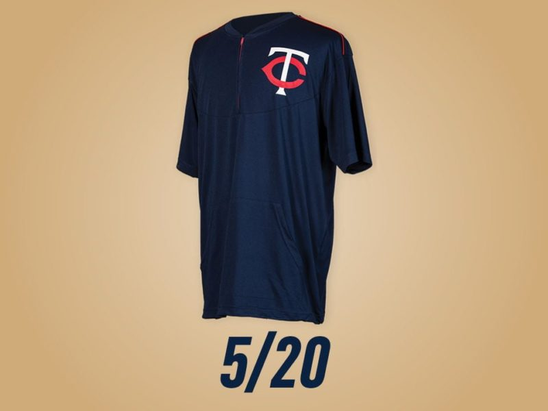 low priced 0b482 8e0ce May 20, 2017 Minnesota Twins - Batting Practice Pullover ...