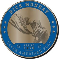 Los Angeles Dodgers Great Dodger Moments Coin 7 Rick Monday Saves the Flag 8 26 2017 - 2020 Dodgers Promotional Giveaway Schedule is Awesome!