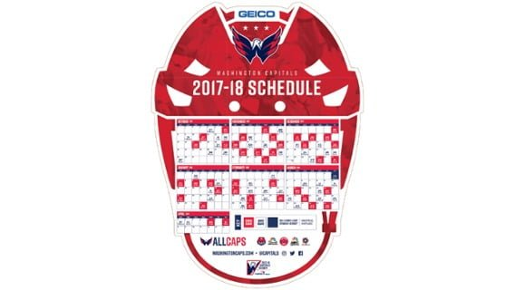 Washington Capitals 2017-2018 Promotional Giveaway Schedule 01a3b4334a2