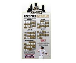 Charlotte Knights 2018 Magnet Schedule 4-12-2018