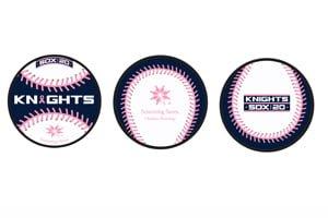Charlotte Knights Pink Baseball 5-12-2018