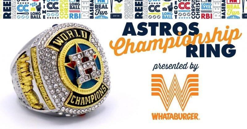 Corpus Christi Hooks Astros Replica Ring 4-14-2018