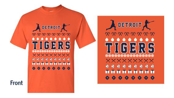 Detroit Tigers Ugly Christmas T-Shirt 7-27-2018