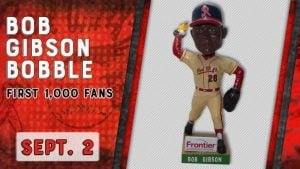 Rochester Red Wings Bob Gibson Bobblehead 9-2-2018