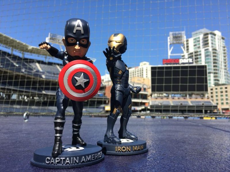 San Diego Padres Iron Man OR Captain America Bobblehead 18