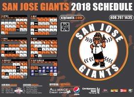 san jose giants 2018 promotional stadium giveaways stadium