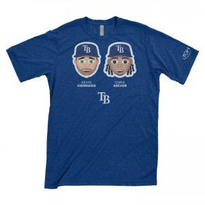 Tampa Bay Rays Chris Archer & Kevin Kiermaier Emoji T-Shirt 4-15-2018