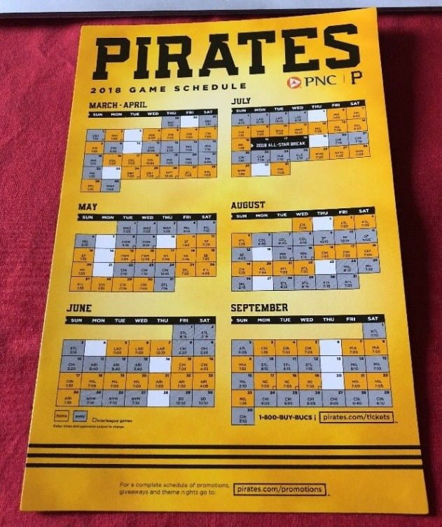 a70d8616b34 Pirates 2018 - Stadium Giveaway Exchange
