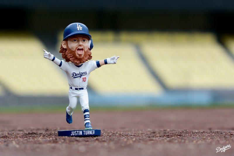 2015 Justin Turner ROOKIE Los Angeles Dodgers STADIUM PROMO Bobblehead SGA