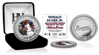limited edition coin honoring Ronald Acuña
