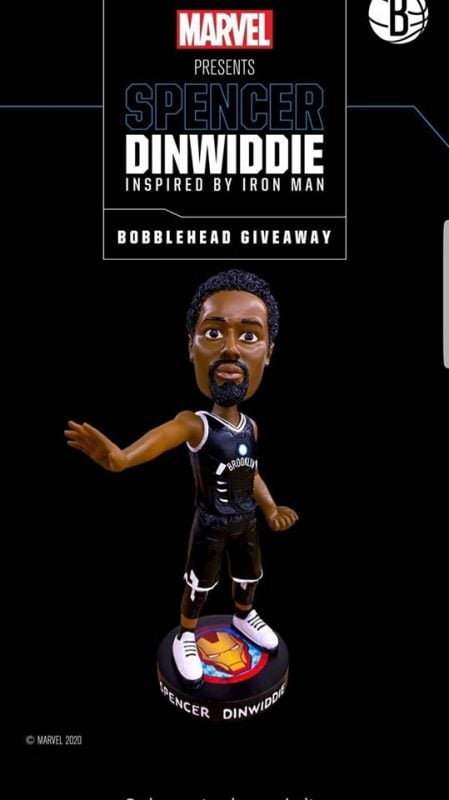 January 18, 2020 Brooklyn Nets – Spencer Dinwiddie as Iron Man Bobblehead