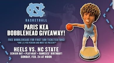 North Carolina University - Paris Kea Bobblehead