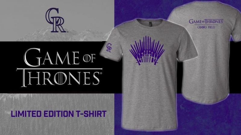 Game of Thrones® themed Colorado Rockies T-Shirt