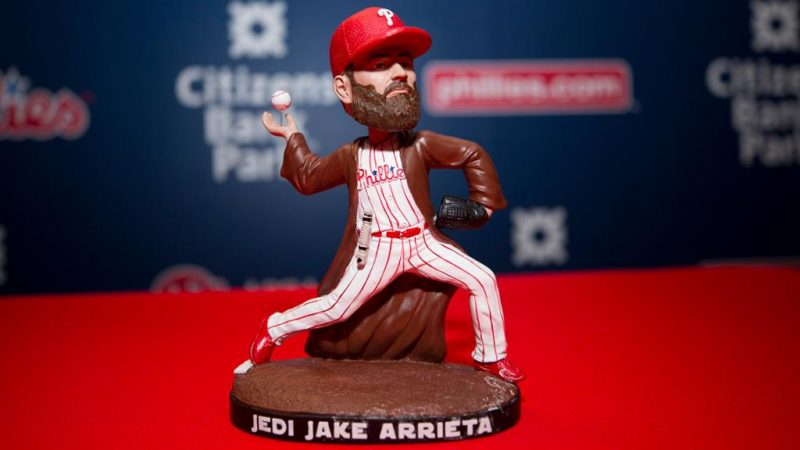 Jedi Jake Arrieta Bobble Figurine