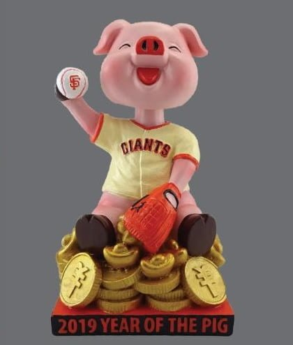 "Giants-themed ""Year of the Pig"" bobblehead"