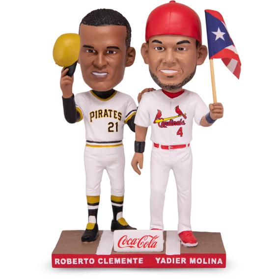 Yadier Molina and Roberto Clemente Double Bobblehead