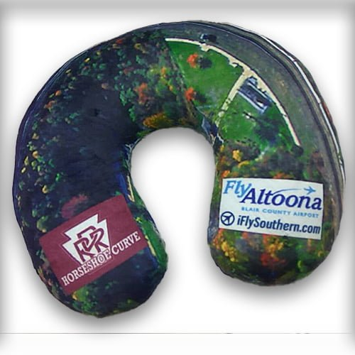 Altoona Curve Horseshoe Curve Neck Pillow