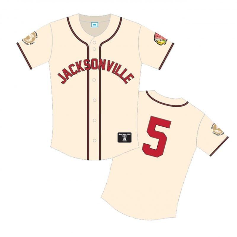 Jacksonville Braves, Henry Aaron, number 5 baseball jersey