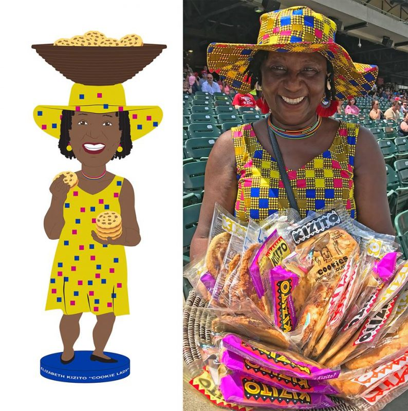 Louisville Bats Cookie Lady Bobblehead