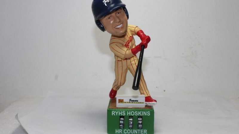 Reading Fightin Phils Rhys Hoskins HR Tracker Bobblehead 4-28-2019