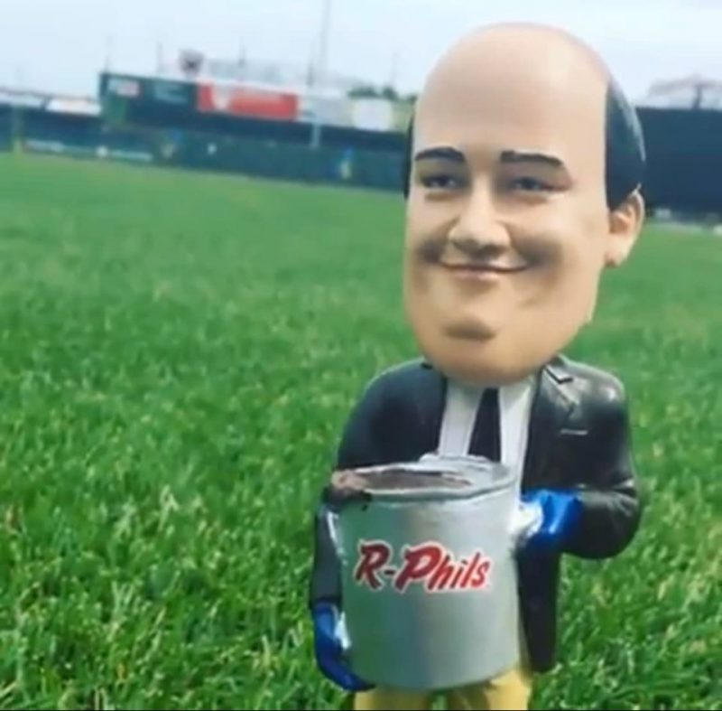 Reading Fightin Reading Fightin Phils The Office Kevin Spilling Chili Bobblehead