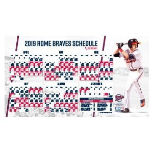 Rome Braves Magnetic Schedule