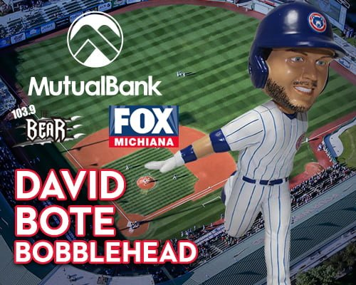South Bend Cubs David Bote Bobblehead