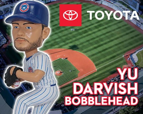 South Bend Cubs Yu Darvish Bobblehead