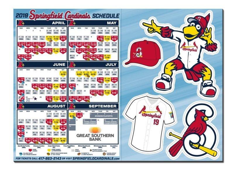 Springfield Cardinals Magnet Schedule 2019
