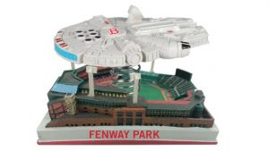 Millennium Falcon flying over Fenway Park Bobble