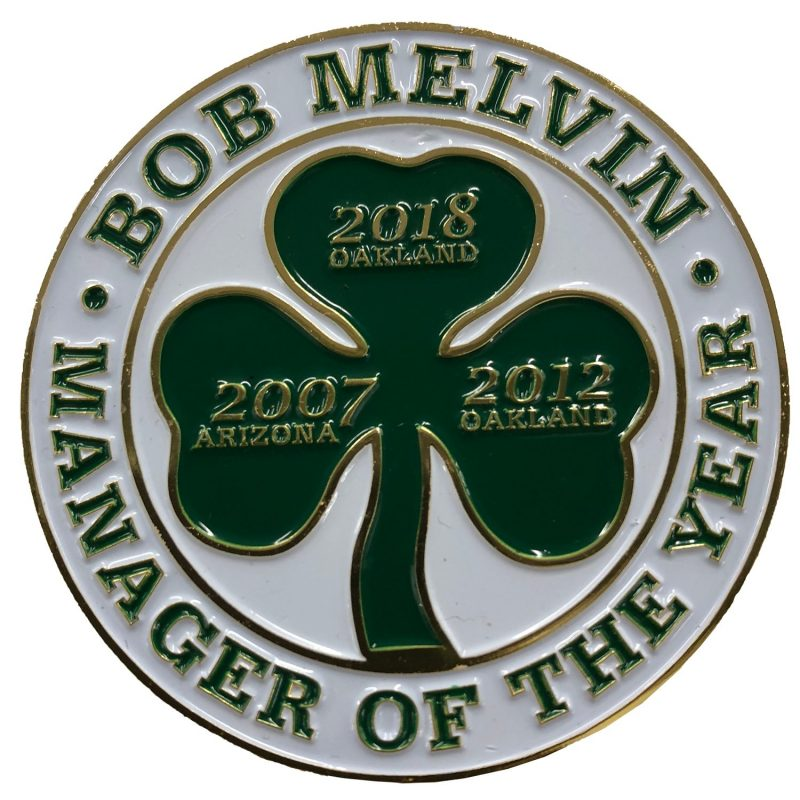 Bob Melvin Manager of the Year Pin