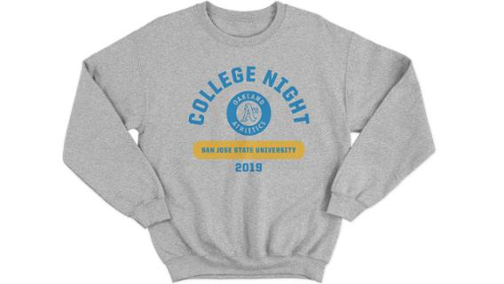 Athletics - San Jose State University crew neck sweatshirt