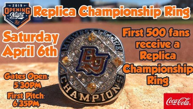 Bowling Green Hot Rods Championship ring