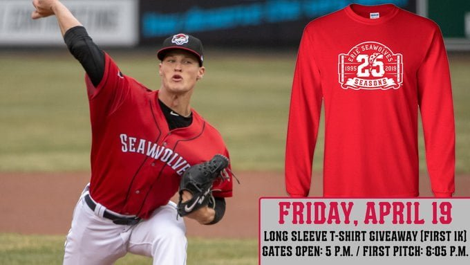 Erie SeaWovles 25 Season long sleeve Shirt