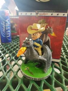 Frisco RoughRiders Teddy Riding a Dragon Bobblehead