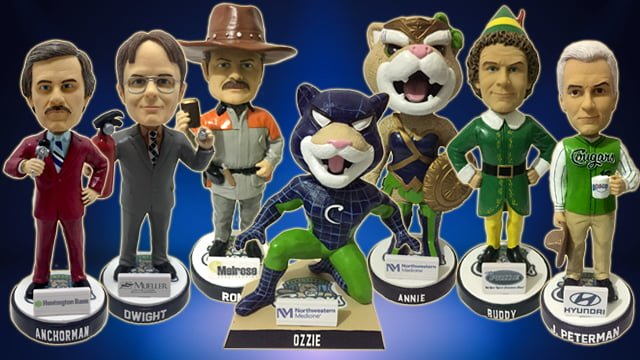 Kane County Cougars 2019 Bobbleheads