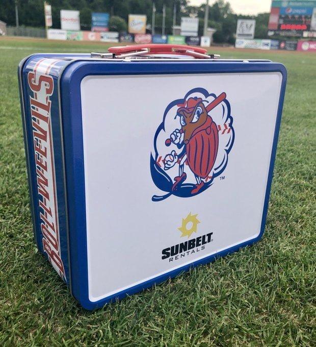 Kannapolis Intimidators Boll Weevils Tin Lunch Box