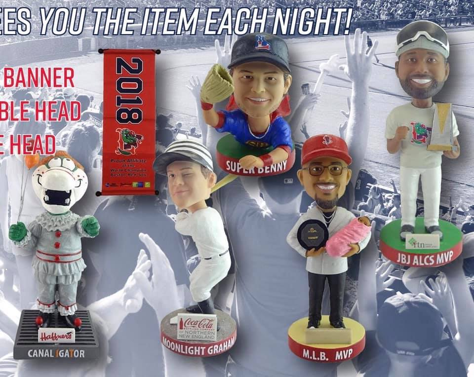 Lowell Spinners 2019 Bobbleheads