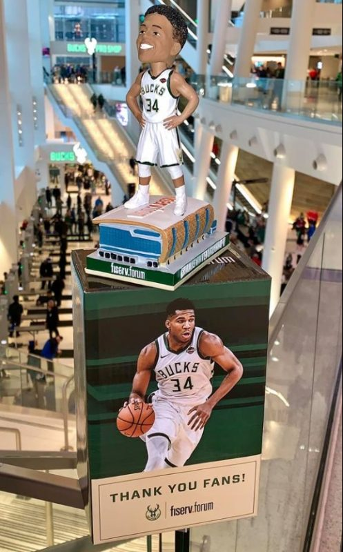 Milwaukee Bucks - Fiserv Forum Giannis Bobblehead