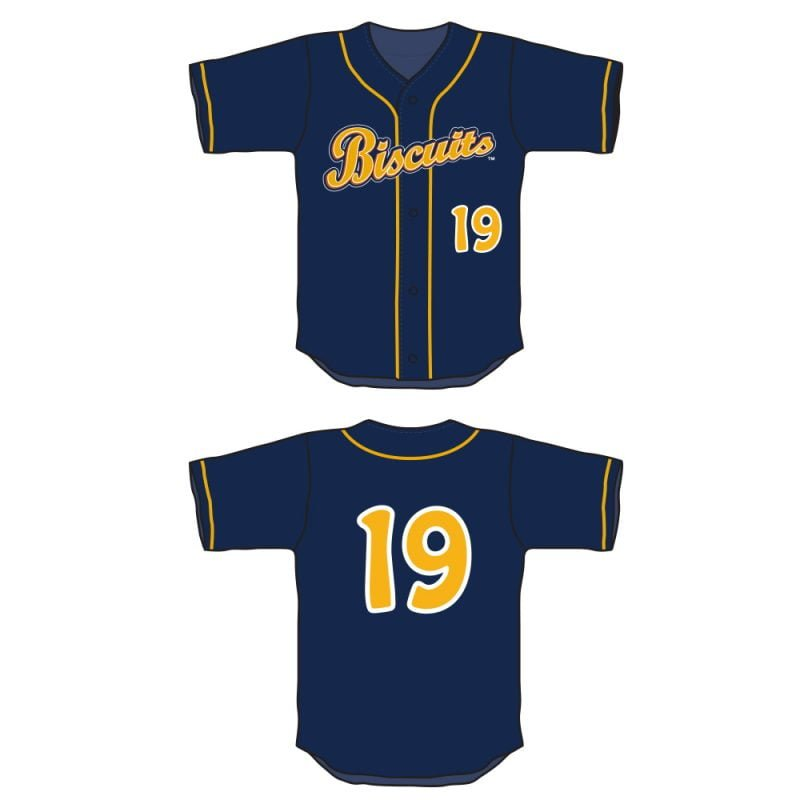 Montgomery Biscuits Lil' Crumbs Dress Like a Player Jersey
