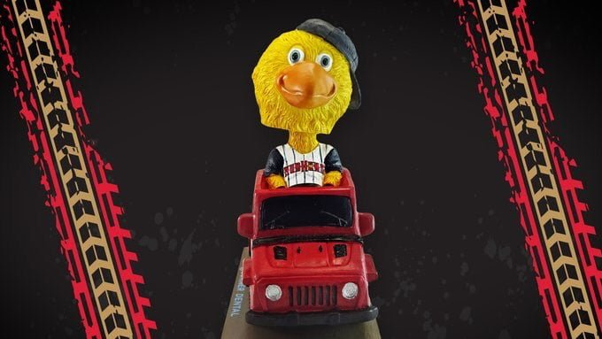 Mud Hens Off-Road Muddy bobblehead